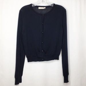 Tory Burch Navy Cardigan Button Sweater